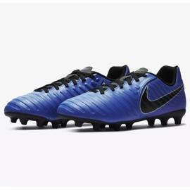 Football shoes Nike Jnr Tiempo Legend 7 Club Mg Jr AO2300-400 blue navy, blue 3