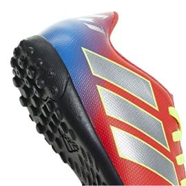 Football boots adidas Nemeziz Messi 18.4 Tf Jr CM8642 red multicolored 3
