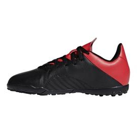 Football shoes adidas X 18.4 Tf Jr BB9416 black black 1
