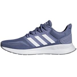 Running shoes adidas Runfalcon W F36217 blue 2