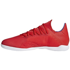Indoor shoes adidas X 18.3 In M BB9392 red multicolored 2