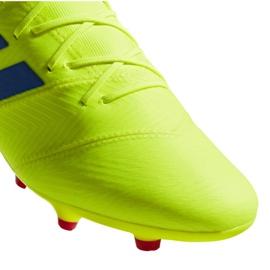 Football shoes adidas Nemeziz 18.2 Fg M BB9431 yellow yellow 4