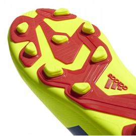 Football shoes adidas Nemeziz 18.4 FxG Jr CM8509 yellow multicolored 4