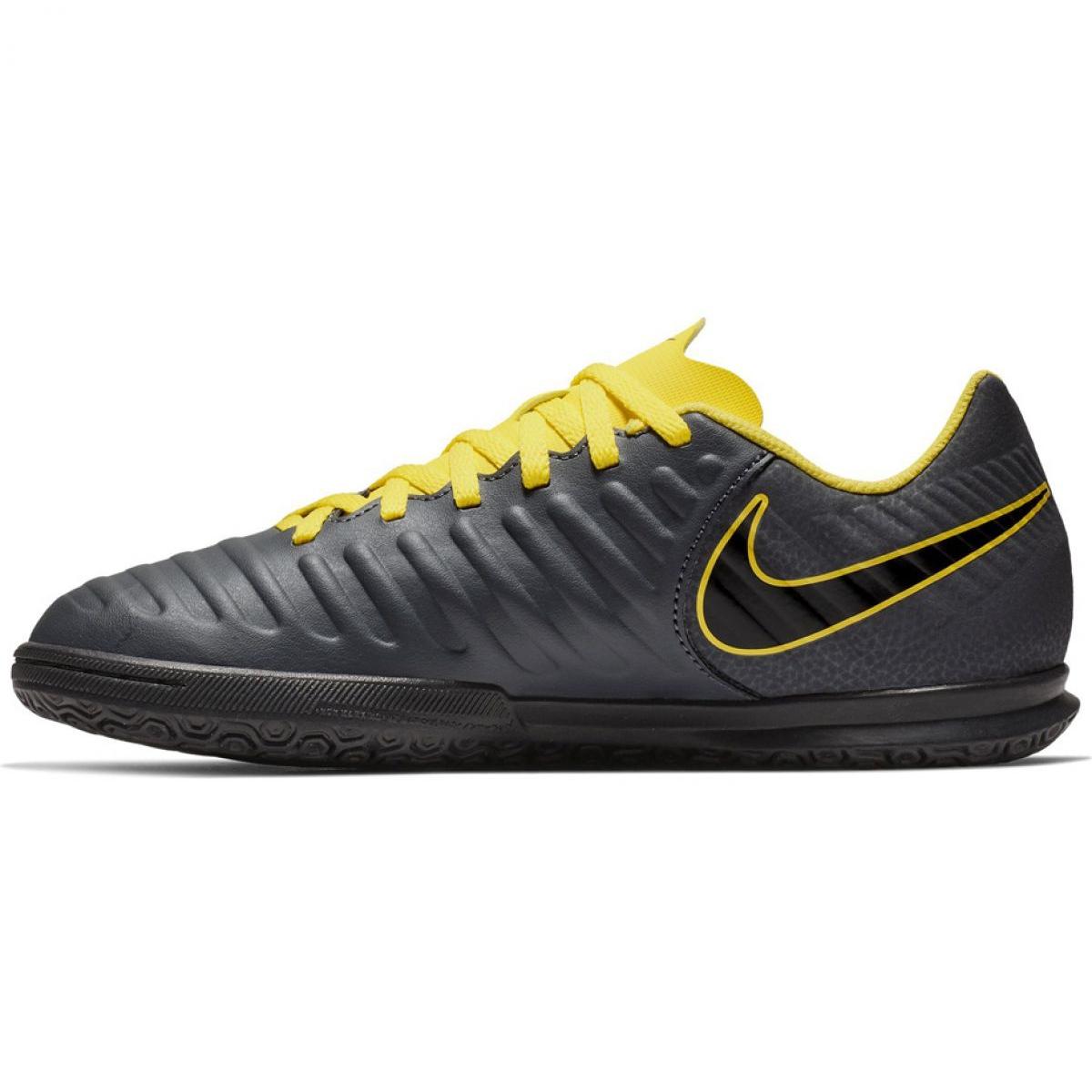 Europa torpe adolescentes  Indoor shoes Nike Tiempo Legend 7 Club Ic Jr AH7260-070 grey black -  ButyModne.pl