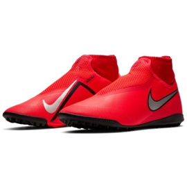 Nike React Phantom Vsn Pro Df Tf M AO3277-600 Football Boots red red 3