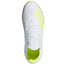 Indoor shoes adidas X 18.3 In Jr BB9397 white multicolored 2