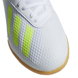 Indoor shoes adidas X 18.3 In Jr BB9397 white multicolored 3
