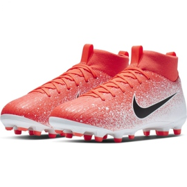 Nike Mercurial Superfly 6 Academy Mg Jr AH7337-801 Football Boots red multicolored 3