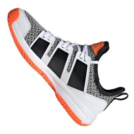 Adidas Stabil Jr F33830 handball shoes white black grey 1