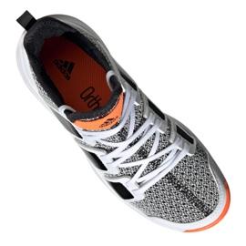 Adidas Stabil Jr F33830 handball shoes white black grey 3
