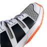 Adidas Stabil Jr F33830 handball shoes white black grey 4