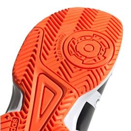 Adidas Stabil Jr F33830 handball shoes white black grey 5