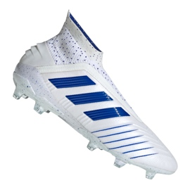 Football boots adidas Predator 19+ Fg M BC0548 white white 2