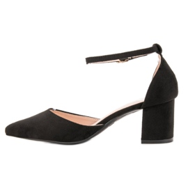 Small Swan Pumps Fastened with a Buckle black 1