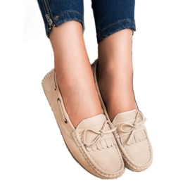 SHELOVET Moccasins With a bow brown 3