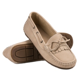 SHELOVET Moccasins With a bow brown 4