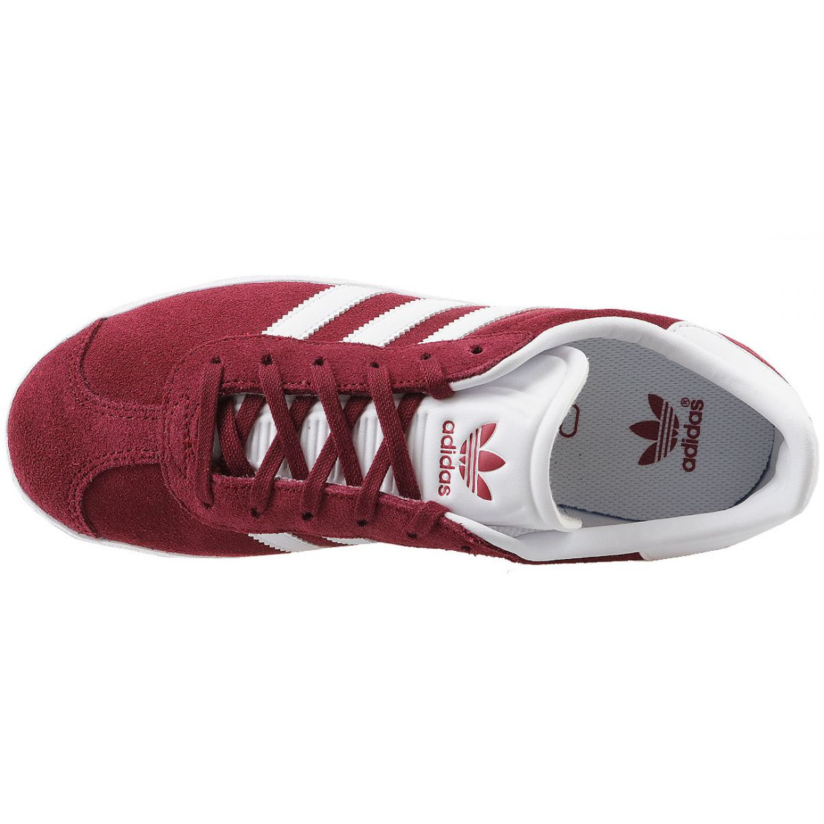 Adidas Gazelle Jr CQ2874 red shoes white - KeeShoes