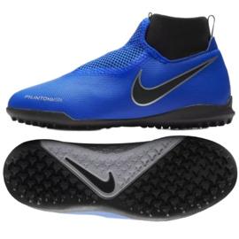 Football shoes Nike Phantom Vsn Academy Df Tf Jr AO3292-400 blue blue 1