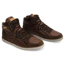XF117 Camel High Sneakers brown 2