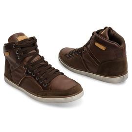 XF117 Camel High Sneakers brown 1