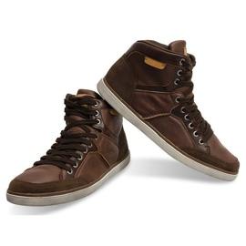 XF117 Camel High Sneakers brown 3