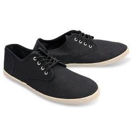 Sneakers Espadrilles Straw Sole 8740 Black 4