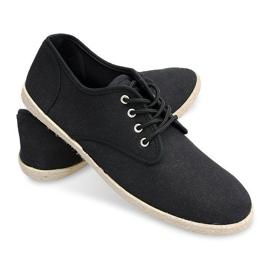 Sneakers Espadrilles Straw Sole 8740 Black 2