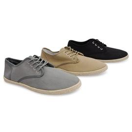 Sneakers Espadrilles Straw Sole 8740 Black 1