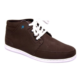 High Leather Sneakers Mid Brown 3