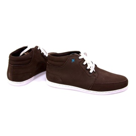 High Leather Sneakers Mid Brown 1