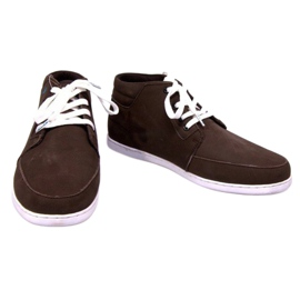 High Leather Sneakers Mid Brown 2