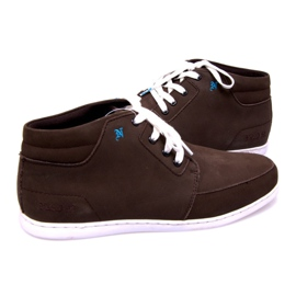 High Leather Sneakers Mid Brown 4