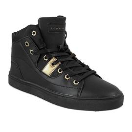 Black high sneakers for men SM1486-001 1