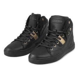 Black high sneakers for men SM1486-001 2