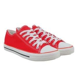 Red classic men's sneakers X-215 3