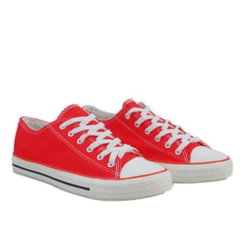 Red classic men's sneakers X-215 4