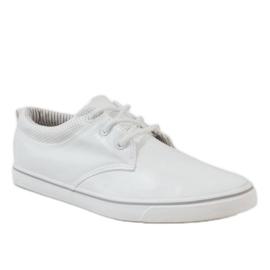 White classic men's sneakers BK-6005 1