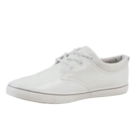 White classic men's sneakers BK-6005 2