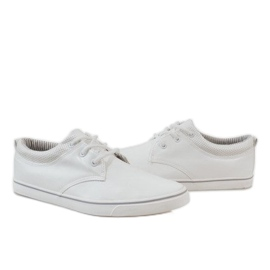 White classic men's sneakers BK-6005 3