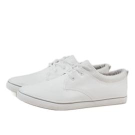 White classic men's sneakers BK-6005 4