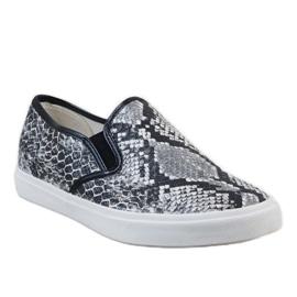White men's sneakers slip on YDB-9 black 1