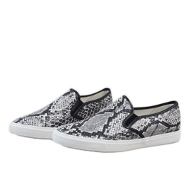 White men's sneakers slip on YDB-9 black 3