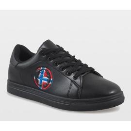 Black men's sneakers D20533 1