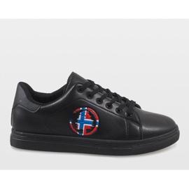 Black men's sneakers D20533 2