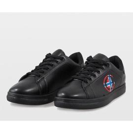 Black men's sneakers D20533 4
