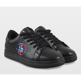 Black men's sneakers D20533 6