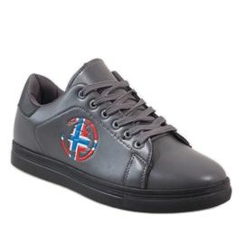 Gray men's sneakers D20533 grey 1