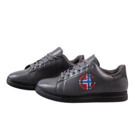 Gray men's sneakers D20533 grey 3