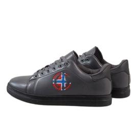 Gray men's sneakers D20533 grey 4
