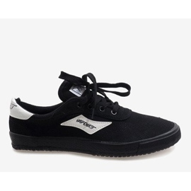 Black men's sneakers HW01 4